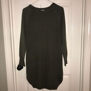 New army green sweater dress
